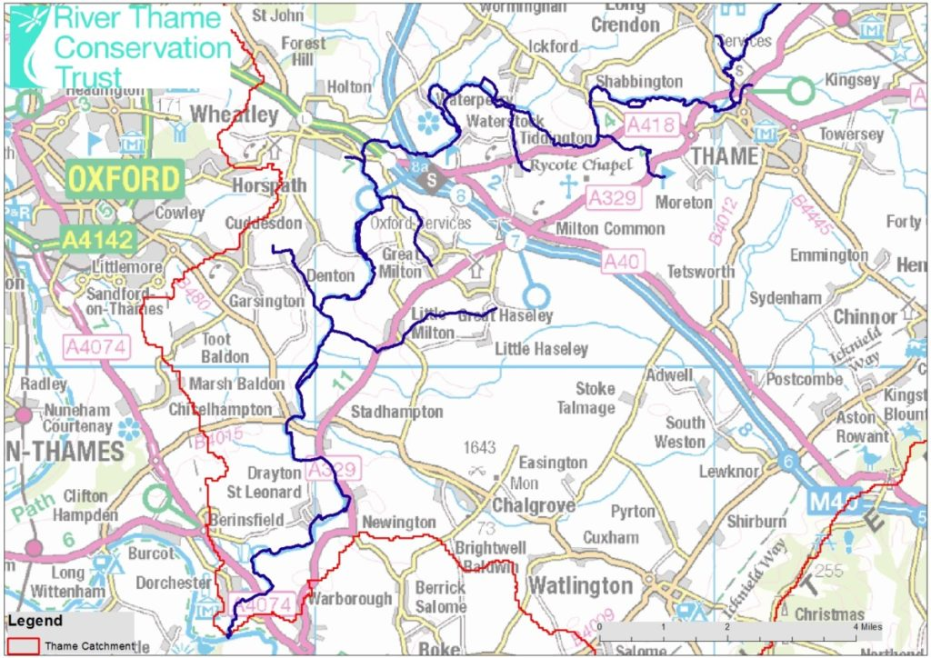 Click here for a PDF map of the Lower Thame