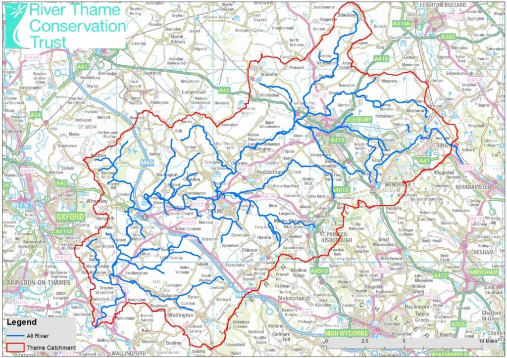 Map of the Thame Catchment