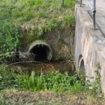 The Chalgrove Brook passes through multiple culverts, this is one in Watlington.