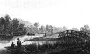 Early version of the bridge at the mouth of the Thame