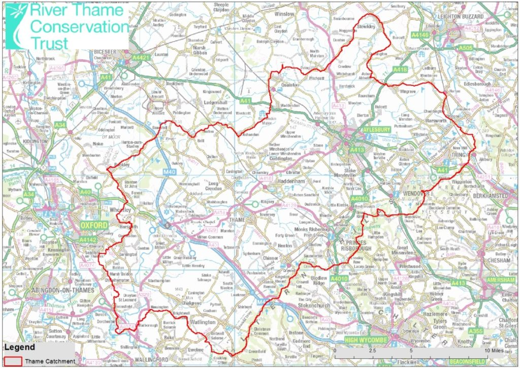 The 'River Thame Catchment' area covers a huge amount of space, we want to protect all of the water within this red line!